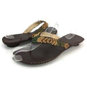 Coconuts Women's Brown Kitten Sandals US Size 7
